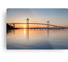 Newport Bridge Sunrise from Jamestown Metal Print