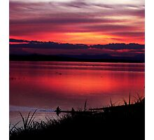 Sunset by the Mekong Photographic Print