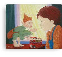Fares Please, boy and goblin Canvas Print