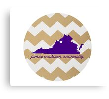 JMU Chevron Canvas Print
