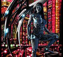 Robot Angel Painting 010 by Ian Sokoliwski