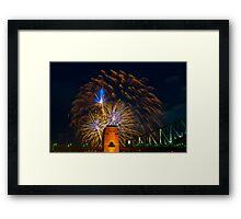 NYE 2008: 9PM Fireworks at McMahons Point fireworks Framed Print