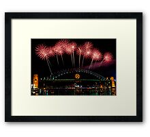 NYE 2008: Midnight Fireworks at McMahons Point Framed Print