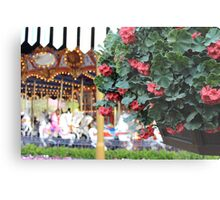 Flowers around King Arthur's Carousel  Metal Print