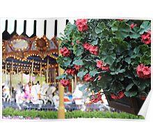 Flowers around King Arthur's Carousel  Poster