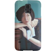 Seated lady with letter Samsung Galaxy Case/Skin