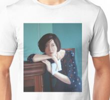 Seated lady with letter Unisex T-Shirt