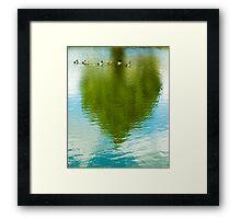 Ducks & Heart Tree Framed Print