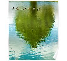 Ducks & Heart Tree Poster