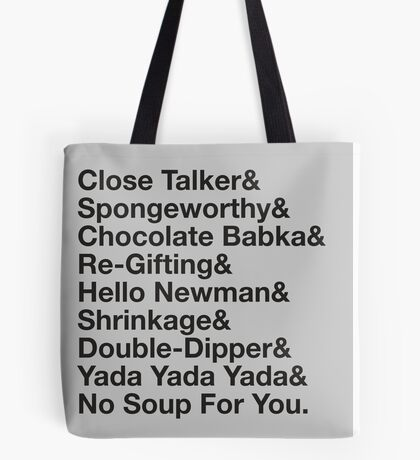 SEINFELD – JERRY SEINFELD CATCHPHRASES GEORGE COSTANZA Tote Bag
