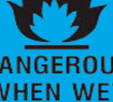 Dangerous When Wet Sticker