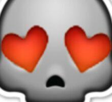 Skull With Heart Eyes Sticker