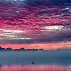 Sunrise From Camano Island by Jim Stiles