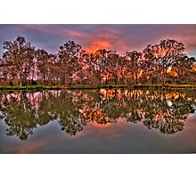 River Reflections - Murray River, Albury , NSW - The HDR Experience Photographic Print