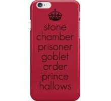 Harry Potter Book Titles iPhone Case/Skin
