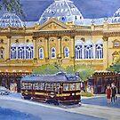 Tram at Princes Theatre, Melbourne by Virginia  Coghill