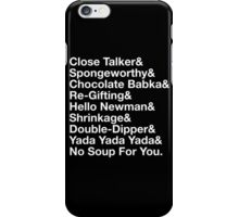 SEINFELD - JERRY SEINFELD CATCHPHRASES GEORGE COSTANZA iPhone Case/Skin