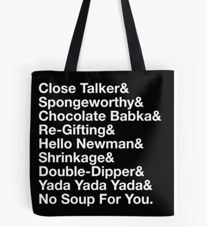 SEINFELD - JERRY SEINFELD CATCHPHRASES GEORGE COSTANZA Tote Bag