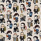 Sherlock Chibis All Over (Warm) by reapersun