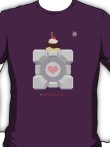 The Cake is a Lie, Companion Cube T-Shirt