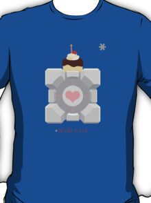 The Cake is a Lie, Companion Cube T-Shirt