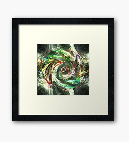 into the murky depths of madness Framed Print