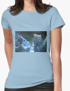Sun Rays Through the Water Womens Fitted T-Shirt