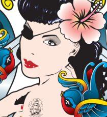 La Chica Pirata Sticker