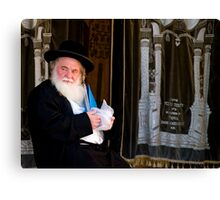 Rabbi and His Scrolls Canvas Print