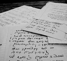 Automatic Writing by Amanda-Jayne Perry