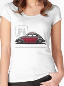 Black and Red Beetle Women's Fitted Scoop T-Shirt