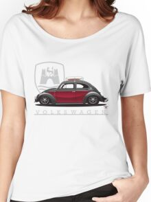 Black and Red Beetle Women's Relaxed Fit T-Shirt