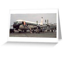 Vanguard at Orly airport 196104190179 Greeting Card