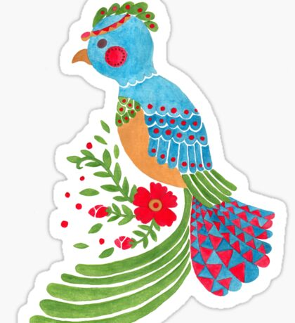 The Blue Quetzal Sticker