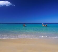 phuket sea and boats by Nigel Hillier