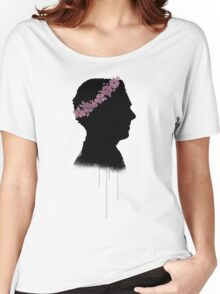 Cumberbatch in a flower crown Women's Relaxed Fit T-Shirt