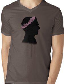 Cumberbatch in a flower crown Mens V-Neck T-Shirt