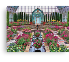 Sunday at the Conservatory Canvas Print