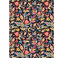 Bright floral pattern with birds Photographic Print