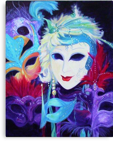 Venetian Carnival Masks by Maureen Whittaker