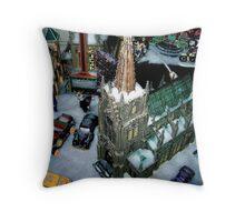 Snowfield Village Throw Pillow