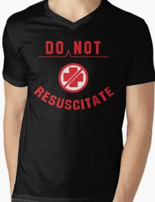 Do Not Resuscitate Funny Geek Nerd Mens V-Neck T-Shirt