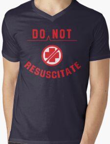 Do Not Resuscitate Funny Geek Nerd Mens V-Neck T-Shirt