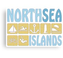NORTH SEA ISLAND Canvas Print