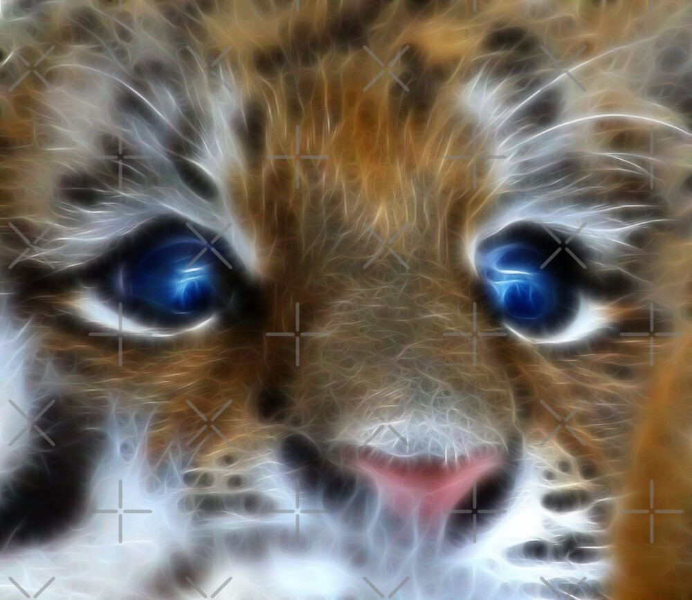 Amur Tiger Cub by Beverly Lussier