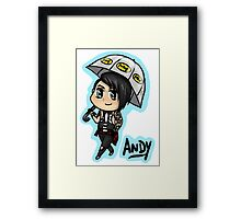BVB - Andy Biersack with an Umbrella Framed Print