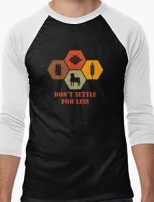 Don't Settle For Less Funny Geek Nerd Men's Baseball ¾ T-Shirt
