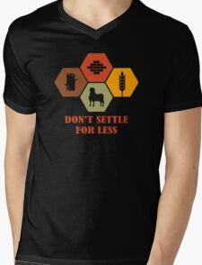 Don't Settle For Less Funny Geek Nerd Mens V-Neck T-Shirt