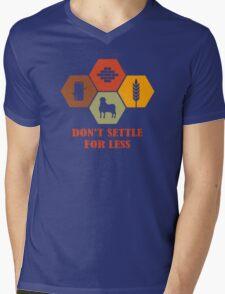 Don't Settle For Less Funny Geek Nerd Mens V-Neck T-Shirt