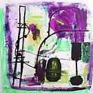Cimetière des Chiens Playground 1 Purple by Jenny Davis